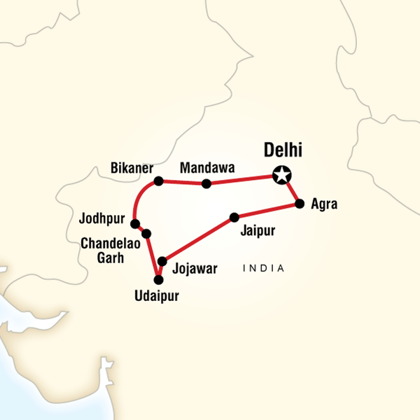 Rajasthan group tour itinerary