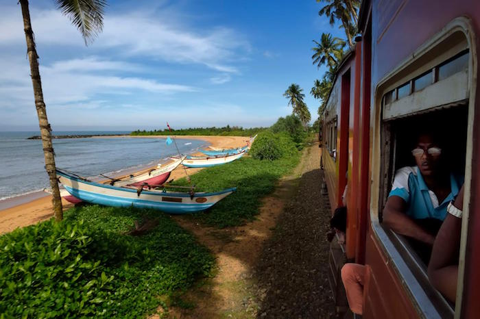 Train Travel in Sri Lanka - The Train from Galle to Matara