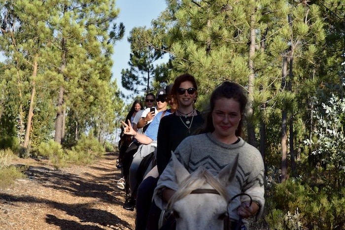 Horse riding in Melides.