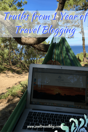one year of travel blogging