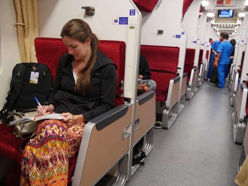 Chiang Mai to Bangkok train in Thailand review
