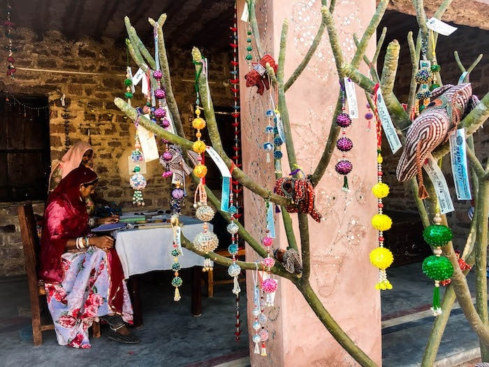 community work at a homestay in jodhpur rajasthan