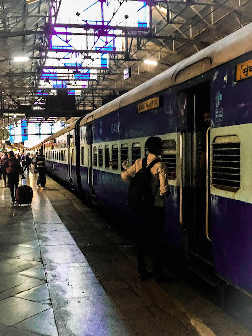 Train from Mumbai to Jaipur - getting ready at Mumbai