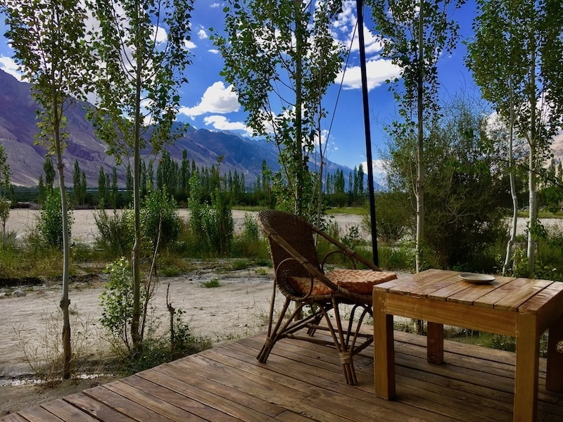 Nubra Ecolodge cottages with terrace