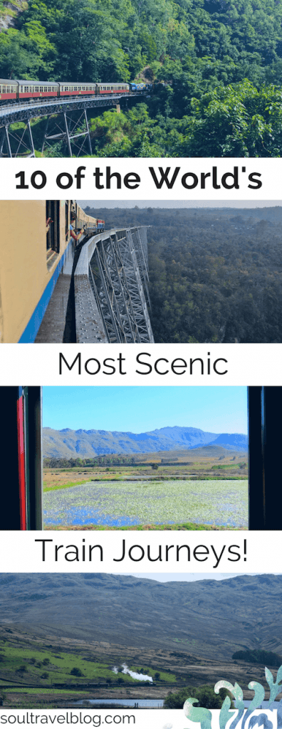 Do you love train travel? Looking for inspiration to travel by train or for the best train journeys? Here are 10 beautiful scenic train journeys from around the world to inspire you! Save this pin to one of your boards for later!