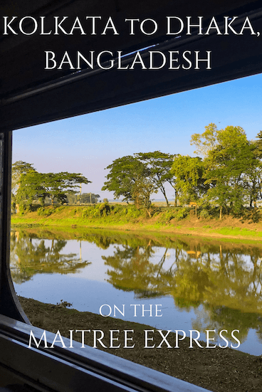 Thinking of travel to Bangladesh? Taking the train from Kolkata to Dhaka was an amazing experience - read more about it here! #travelbangladesh #bangladesh #traintravel #traintravelasia #southasia #bengal #maitreeexpress