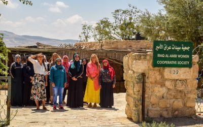 Visiting Iraq al Amir Womens' Cooperative in Jordan.