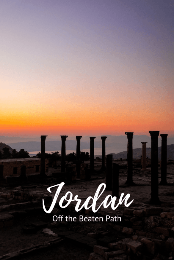 Jordan has far more to experience than just Petra - read how to get off the beaten track when travelling in Jordan and consider exploring the north of Jordan! Save this post to one of your boards for later #jordan #jordantravel #responsibletravel