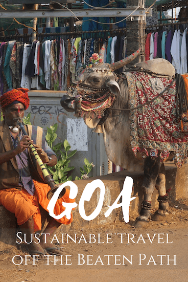Planning travel to Goa, India? Our guide to responsible travel in Goa gives you the best ecolodges in Goa, sustainable travel tips and how to get away from the crowds! Pin this post to find it later! #goa #india #travel #sustainabletravel