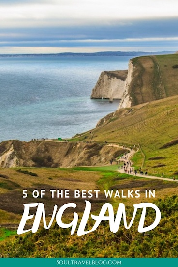 Planning travel to England? Love the great outdoors? Then checkout 5 of the most beautiful walks in England - guaranteed to give you those stunning English Countryside views! #england #uktravel #englandtravel #britaintravel #omgb #hikingholidays #walkingholidays