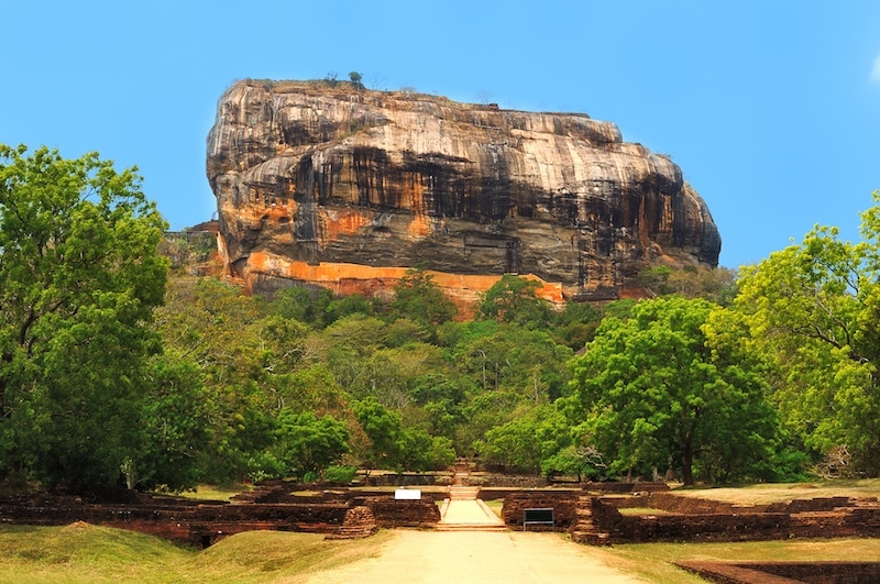 Climbing Lion's Rock in Sigiriya Sri Lanka