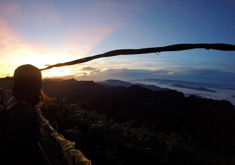 climbing Adams peak Sri Lanka