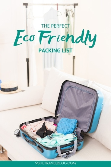 Everything you need for eco friendly travel with this eco friendly packing list! We cover the best sustainable travel products, clothing, toiletries and luggage! #packinglist #sustianabletravel #traveltips