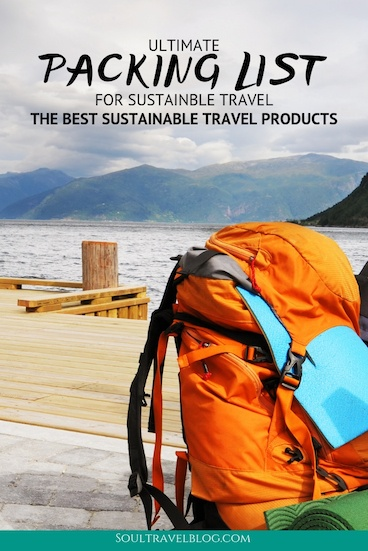 Everything you need for sustainable travel with this packing list! We cover the best sustainable travel products, clothing, toiletries and luggage! #packinglist #sustianabletravel #traveltips