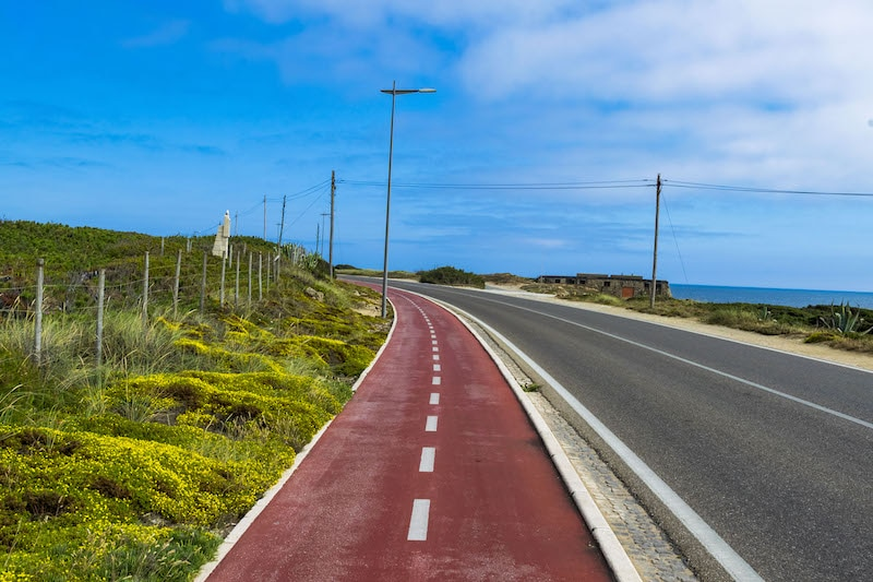 Cycling from Cascais to Guincho