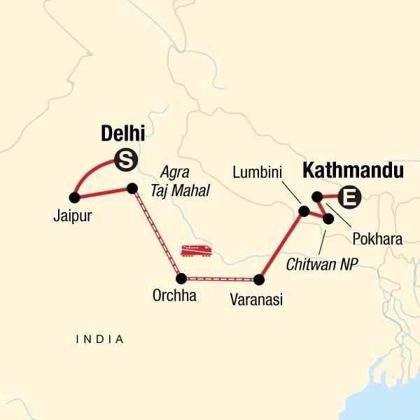 Delhi to Kathmandu tour itinerary