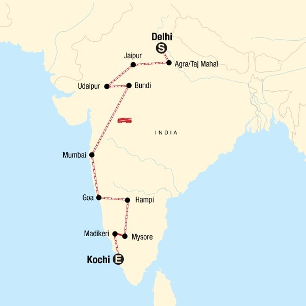 Delhi to Kochi Group Tour