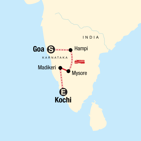 southern India by rail tour
