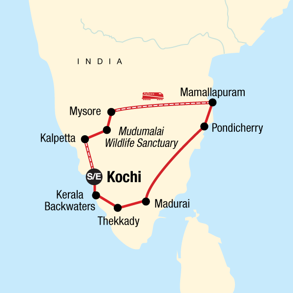 South India group tour