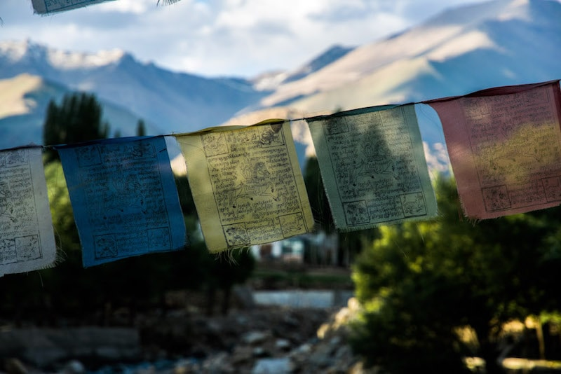 Prayer flags in Ladakh, India