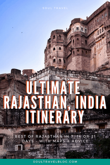 Rajasthan india travel itinerary