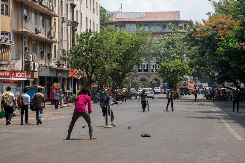 Grillo callejero de Mumbai