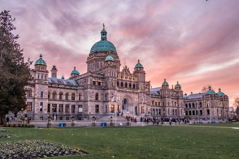 Victoria BC Parliament buildings
